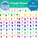 Triangle Banner Clipart: Two Toned Colors