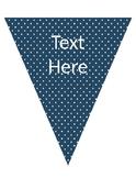Triangle Banner FREEBIE!! (navy, peach, mint, pink)
