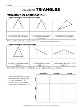 Triangle Basics Interactive Notes and Practice