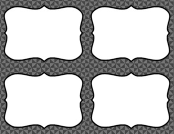 Blank Task Cards-Basics: Triangles (300dpi) with Editable PowerPoint