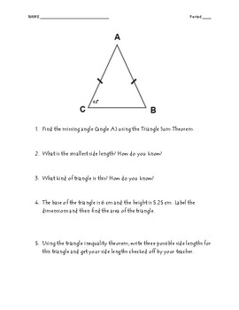 Triangle Breakdown Activity