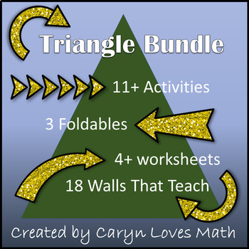 Triangle Bundle Pack~Angles~Congruent Triangles~Similar~Special Lines