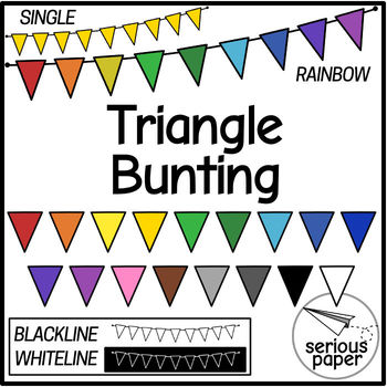 FREE Triangle Bunting - Solid Colors