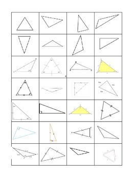 Triangle Capture Geometry Game (Common Core Aligned)