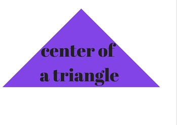 Triangle Centers