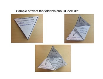 Triangle Centers Foldable