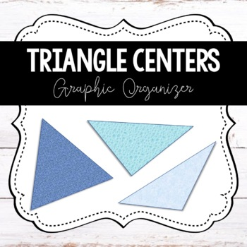 Triangle Centers Graphic Organizer