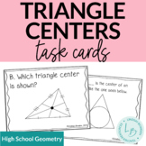 Triangle Centers Task Cards (Points of Concurrency)