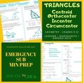 Triangle Centroid, Circumcenter, Othocenter, Incenter Geom