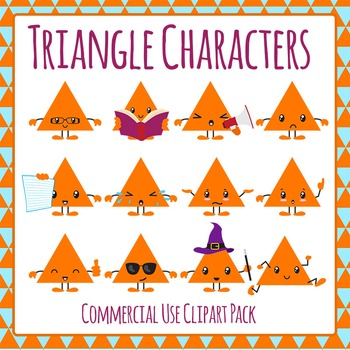 Triangle Character Clip Art Pack for Commercial Use