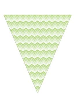 Triangle Chevron bunting