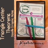 Triangle Circumcenter, Incenter, Centroid Theorems Doodle Notes Graphic Organize
