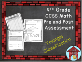 Triangle Classification Assessment CCSS Aligned