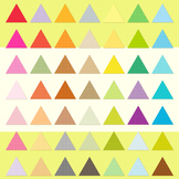 Triangle Clipart for Invitation Planner, Triangle Scrapbooking