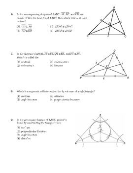 Triangle Concurrency (Centroid, Orthocenter, Incenter, Circumcenter)