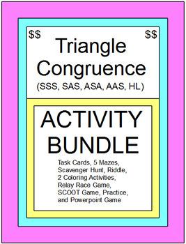 TRIANGLE CONGRUENCE - ACTIVITY BUNDLE