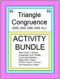 TRIANGLES:  CONGRUENT TRIANGLES - ACTIVITY BUNDLE