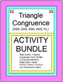 TRIANGLES:  CONGRUENT TRIANGLES - ACTIVITY BUNDLE