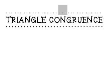 Triangle Congruence Bulletin Board