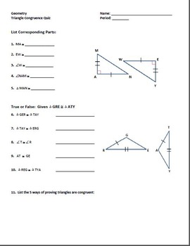 Triangle Congruence Bundle