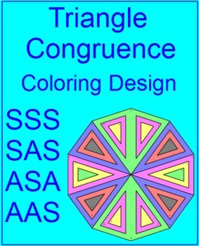 This is a picture of Gargantuan congruent triangles coloring activity