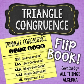 Congruent Triangles Flip Book