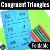 Congruent Triangles Foldable