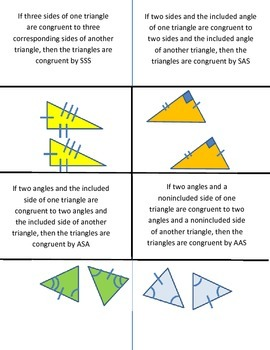 Triangle Congruence Foldable