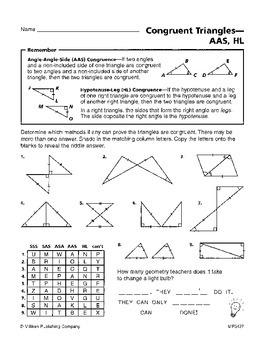 Triangle Congruence (CCSS HSG-CO.B.7, 8)