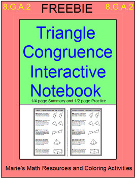 Free Downloads - Triangle Congruence Interactive Notebook