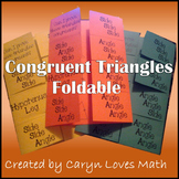 Congruent Triangles Foldable ~Postulate/Theorem ~SSS~SAS~ASA~HL