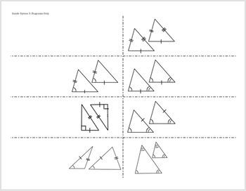 congruent triangles foldable postulate theorem sss sas asa hl tpt. Black Bedroom Furniture Sets. Home Design Ideas