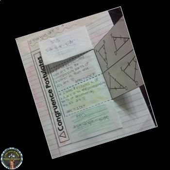 Triangle Congruence Postulates Interactive Notebook Page