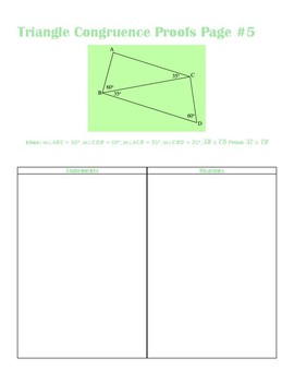 Triangle Congruence Proof Activity