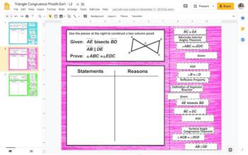 Congruent Triangles Proofs Digital Activity