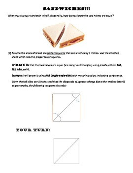 Triangle Congruence Proofs Using Sandwiches!