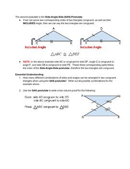 Triangle Congruence Properties (SSS, SAS, ASA, AAS)