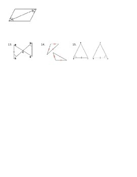 Triangle Congruence Quiz