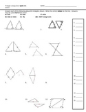 Triangle Congruence Quiz
