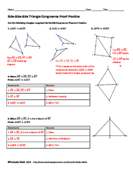 Triangle Congruence Sss Proof Geometry Worksheet By Pecktabo Math Transformations In Geometry Worksheets Triangle Congruence Sss Proof Geometry Worksheet