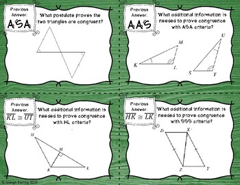 Triangle Congruence Scavenger Hunt