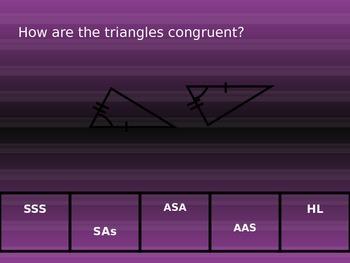 Triangle Congruence Slap the board Game