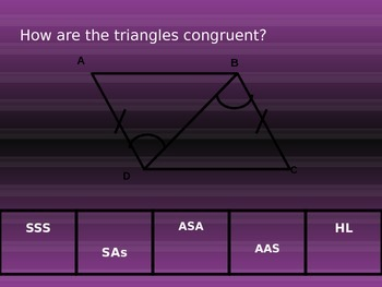Triangle Congruence Slap the board Game
