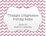 Triangle Congruence Sorting Game