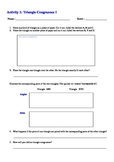 Triangle Congruence Student Self Discovery Activity