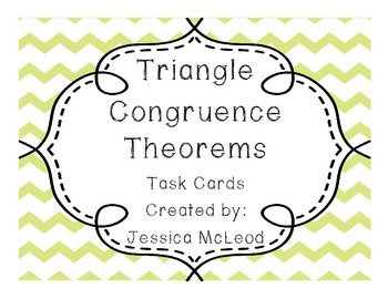 Triangle Congruence Task Cards