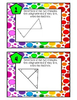 Triangle Congruence Theorems Boom Cards---Digital Task Cards