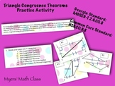 Triangle Congruence Theorems Practice Activity