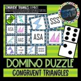 Triangle Congruence Theorems: Set of 2 Domino Puzzles; Geometry, SSS, SAS, ASA