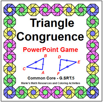 Triangle Congruence - WIPE OUT! Powerpoint Game or Review